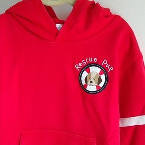 3/$15🌺🌺🌺Boys hoodie 3T Gymboree red Rescue Pup